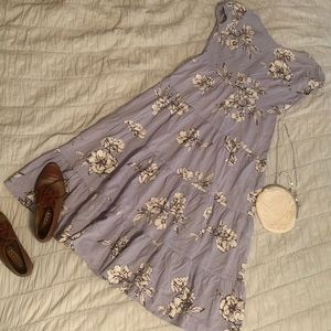 Anthropologie Purple Floral Dress